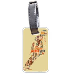 Michael Jackson Typography They Dont Care About Us Luggage Tag (two Sides) by FlorianRodarte