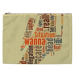Michael Jackson Typography They Dont Care About Us Cosmetic Bag (xxl) by FlorianRodarte