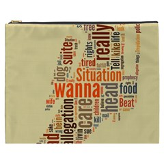 Michael Jackson Typography They Dont Care About Us Cosmetic Bag (xxxl) by FlorianRodarte