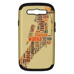 Michael Jackson Typography They Dont Care About Us Samsung Galaxy S Iii Hardshell Case (pc+silicone) by FlorianRodarte