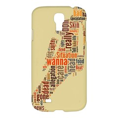 Michael Jackson Typography They Dont Care About Us Samsung Galaxy S4 I9500/i9505 Hardshell Case by FlorianRodarte