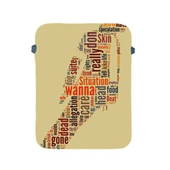 Michael Jackson Typography They Dont Care About Us Apple Ipad Protective Sleeve by FlorianRodarte