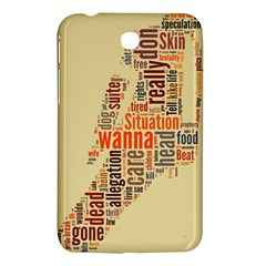Michael Jackson Typography They Dont Care About Us Samsung Galaxy Tab 3 (7 ) P3200 Hardshell Case  by FlorianRodarte
