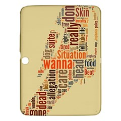Michael Jackson Typography They Dont Care About Us Samsung Galaxy Tab 3 (10 1 ) P5200 Hardshell Case