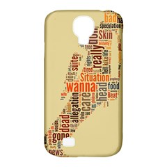 Michael Jackson Typography They Dont Care About Us Samsung Galaxy S4 Classic Hardshell Case (pc+silicone) by FlorianRodarte