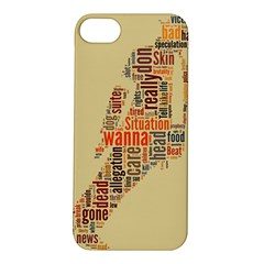Michael Jackson Typography They Dont Care About Us Apple Iphone 5s Hardshell Case by FlorianRodarte