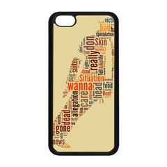 Michael Jackson Typography They Dont Care About Us Apple Iphone 5c Seamless Case (black) by FlorianRodarte