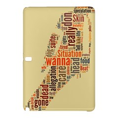 Michael Jackson Typography They Dont Care About Us Samsung Galaxy Tab Pro 12 2 Hardshell Case by FlorianRodarte