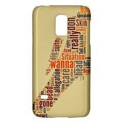 Michael Jackson Typography They Dont Care About Us Samsung Galaxy S5 Mini Hardshell Case  by FlorianRodarte