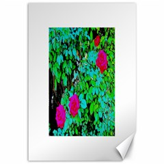 Rose Bush Canvas 12  X 18  (unframed) by sirhowardlee
