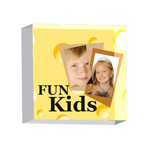 Kids By Kids   4 x 4  Acrylic Photo Block   6ttie1on4k0e   Www Artscow Com Front