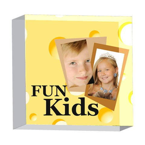 Kids By Kids   5  X 5  Acrylic Photo Block   Ynosc71vr9by   Www Artscow Com Front