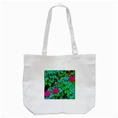 Rose Bush Tote Bag (White) by sirhowardlee