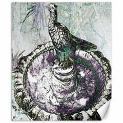 Bird Fountain 2 Canvas 8  X 10  (unframed) by sirhowardlee