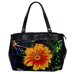 Flower In A Parking Lot Oversize Office Handbag (one Side)