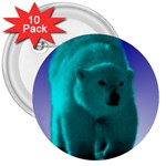 Polar Bear 3  Button (10 pack)