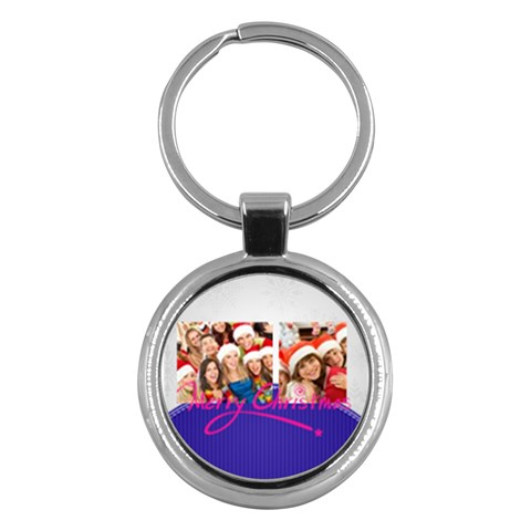 Merry Christmas By Mac Book   Key Chain (round)   Kmz1nh76h7hv   Www Artscow Com Front
