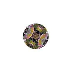 Geometric Grunge Pattern Print 1  Mini Button by dflcprints