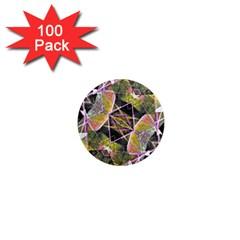 Geometric Grunge Pattern Print 1  Mini Button Magnet (100 Pack) by dflcprints