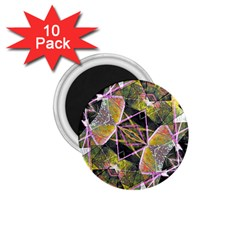 Geometric Grunge Pattern Print 1 75  Button Magnet (10 Pack) by dflcprints