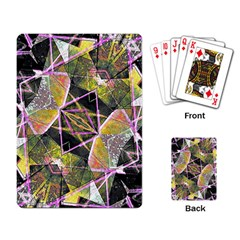 Geometric Grunge Pattern Print Playing Cards Single Design by dflcprints