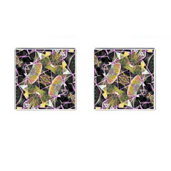 Geometric Grunge Pattern Print Cufflinks (square) by dflcprints