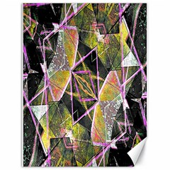 Geometric Grunge Pattern Print Canvas 18  X 24  (unframed) by dflcprints