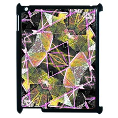 Geometric Grunge Pattern Print Apple Ipad 2 Case (black) by dflcprints