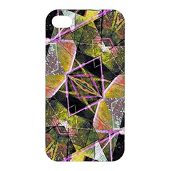 Geometric Grunge Pattern Print Apple Iphone 4/4s Hardshell Case by dflcprints