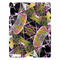 Geometric Grunge Pattern Print Apple Ipad 3/4 Hardshell Case by dflcprints