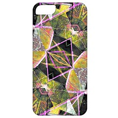 Geometric Grunge Pattern Print Apple Iphone 5 Classic Hardshell Case by dflcprints