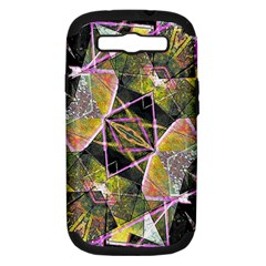 Geometric Grunge Pattern Print Samsung Galaxy S Iii Hardshell Case (pc+silicone) by dflcprints