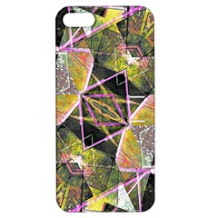 Geometric Grunge Pattern Print Apple Iphone 5 Hardshell Case With Stand by dflcprints