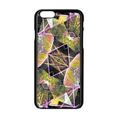 Geometric Grunge Pattern Print Apple Iphone 6 Black Enamel Case by dflcprints