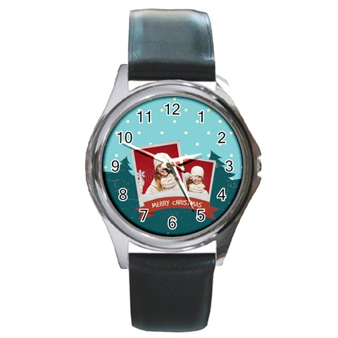 Xmas By Xmas   Round Metal Watch   0cnscqhcdsly   Www Artscow Com Front