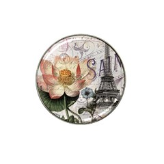 Vintage Paris Eiffel Tower Floral Golf Ball Marker 4 Pack (for Hat Clip) by chicelegantboutique