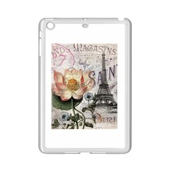Vintage Paris Eiffel Tower Floral Apple Ipad Mini 2 Case (white) by chicelegantboutique