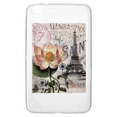 Vintage Paris Eiffel Tower Floral Samsung Galaxy Tab 3 (8 ) T3100 Hardshell Case  by chicelegantboutique