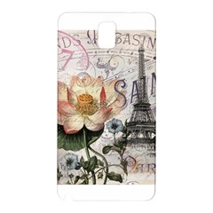 Vintage Paris Eiffel Tower Floral Samsung Galaxy Note 3 N9005 Hardshell Back Case by chicelegantboutique