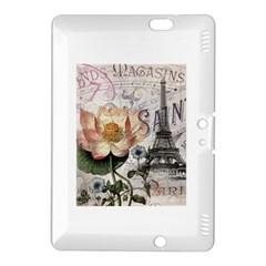 Vintage Paris Eiffel Tower Floral Kindle Fire Hdx 8 9  Hardshell Case by chicelegantboutique