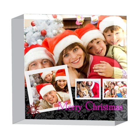 Xmas By Angena Jolin   5  X 5  Acrylic Photo Block   Gxg550gv8x16   Www Artscow Com Front