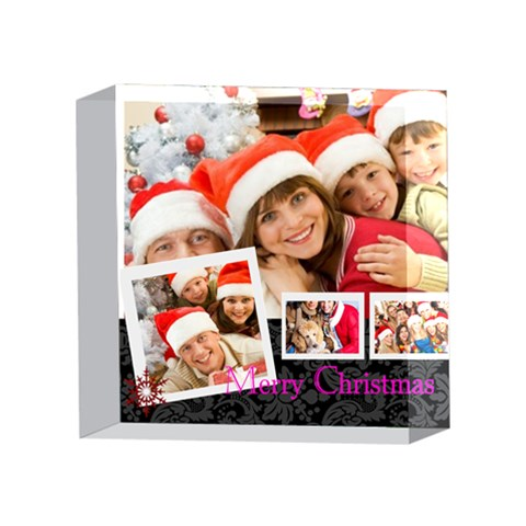 Xmas By Angena Jolin   4 x 4  Acrylic Photo Block   Mwmzxnrfj2lz   Www Artscow Com Front