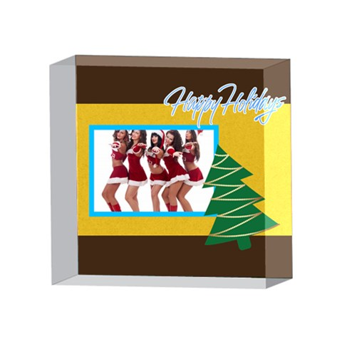 Xmas By Angena Jolin   4 x 4  Acrylic Photo Block   Kmquh2hp7jts   Www Artscow Com Front