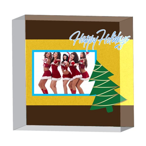 Xmas By Angena Jolin   5  X 5  Acrylic Photo Block   Klyolie6f3ir   Www Artscow Com Front