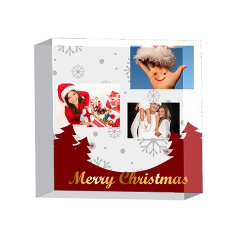 Xmas By Angena Jolin   4 x 4  Acrylic Photo Block   L4styuwmkxq7   Www Artscow Com Front