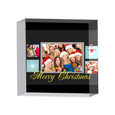 Xmas By Angena Jolin   4 x 4  Acrylic Photo Block   Kq7rf3vv4wew   Www Artscow Com Front