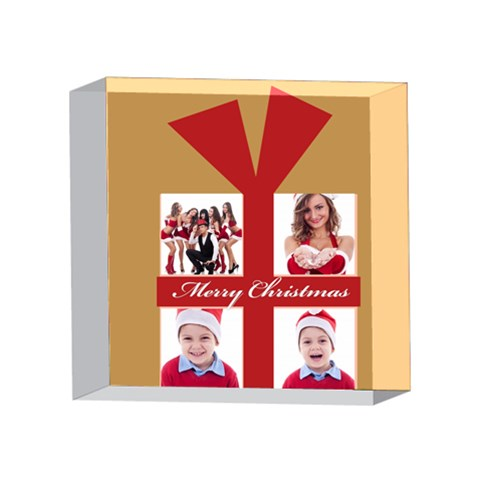 Xmas By Clince   4 x 4  Acrylic Photo Block   5c579xfycxuf   Www Artscow Com Front