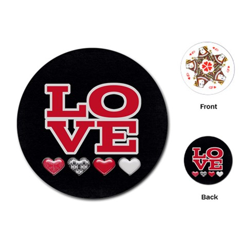 Love Cards By Joy   Playing Cards (round)   Psxlyugtqbx7   Www Artscow Com Front