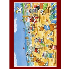 Jervis Bay Christmas Card By Stephanie   Greeting Card 4 5  X 6    Wvjishbbhkzb   Www Artscow Com Front Inside