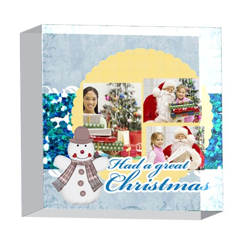 Xmas By Merry Christmas   5  X 5  Acrylic Photo Block   Qu3j19ud3bqn   Www Artscow Com Front